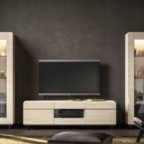 Perla Perla White  3 door TV unit